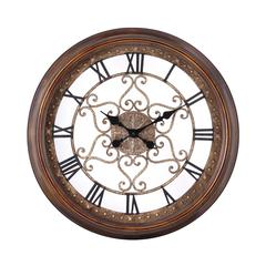 Cooper Classics Audrey Clock, Distressed Copper Finish, Under Glass