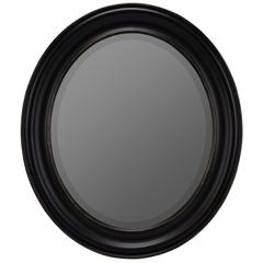 Townsend Mirror, Black Finish with Gold Highlights, Beveled Mirror