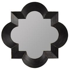 Cooper Classics Kristen Mirror, Black Finish with Brown Undertones