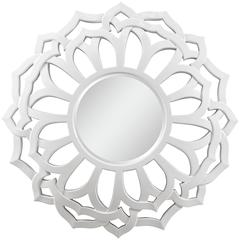 Martin Mirror, Glossy White Finish, Beveled Mirror