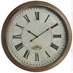 James Clock, Taupe Finish, Under Glass
