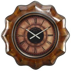 Cooper Classics Sullivan Clock, Distressed Chestnut Finish, Under Glass