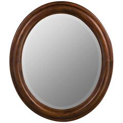 Cooper Classics Addison Oval Mirror, Vineyard Finish, Beveled Mirror