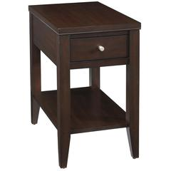 Cordova End Table, Mocha Finish with Drawer