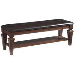Cooper Classics Charleton Lodge Bench, Distressed Chestnut Finish