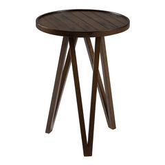 Russell Side Table, Distressed Brown Finish