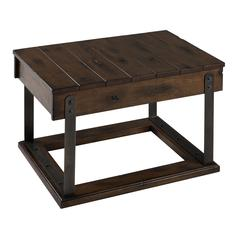 Bullard Cocktail Table, Distressed Brown Finish