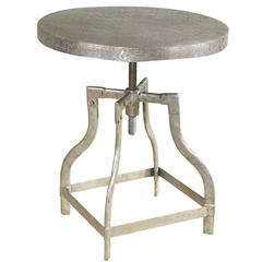 Watford Side Table, Burnished Silver Finish