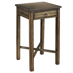 Cooper Classics Munden Side Table, Dark Brown Finish with Black Highlights