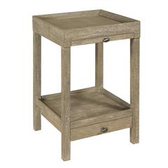 Loretto Side Table, Gray Wash Finish