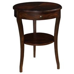 Cooper Classics Elsa Side Table, Dark Cherry Finish