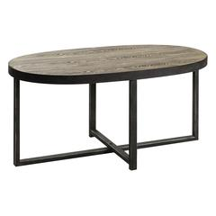 Cooper Classics Layton Cocktail Table, Distressed Wood and Metal Finish