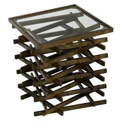 Cooper Classics Horizon Side Table, Aged Bronze Finish