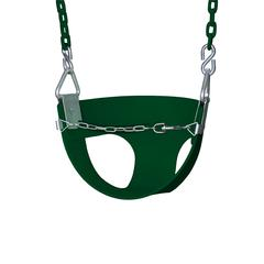 Half Bucket Toddler Swing - Green