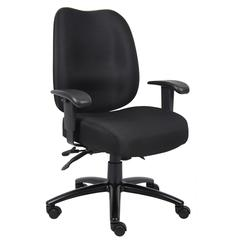 Aaria Collection Dido Multi-Function 3 Paddle  Task Chair W/ Seat Slider / Black