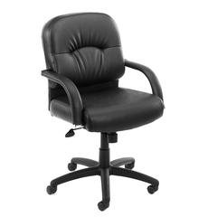 Boss Mid Back Caressoft Chair In Black W/ Knee Tilt