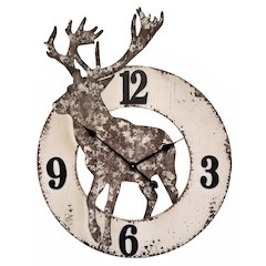 30 in Novelty Wall Clock, White Finish Case, Open Face