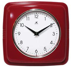 Infinity Instruments Purity - Red Wall Clock