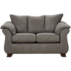 Exceptional Designs by Flash Sensations Grey Microfiber Loveseat