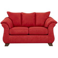 Flash Furniture Exceptional Designs by Flash Sensations Red Brick Microfiber Loveseat