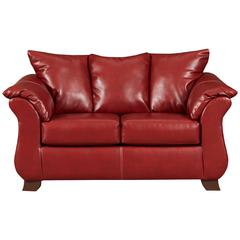 Exceptional Designs by Flash Sierra Red Leather Loveseat