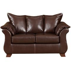Flash Furniture Exceptional Designs by Flash Taos Mahogany Leather Loveseat