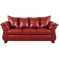Exceptional Designs by Flash Sierra Red Leather Sofa