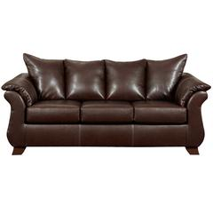 Flash Furniture Exceptional Designs by Flash Taos Mahogany Leather Sofa