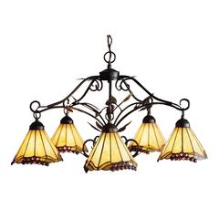 ELK lighting Grape Trellis 5 Light Chandelier In Antique Iron