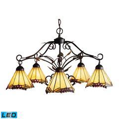 ELK lighting Grape Trellis 5 Light LED Chandelier In Antique Iron