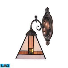 ELK lighting Mix-N-Match 1 Light LED Wall Sconce In Tiffany Bronze