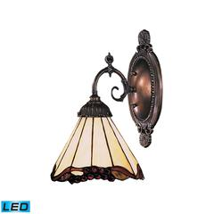Mix-N-Match 1 Light LED Wall Sconce In Tiffany Bronze And Honey Dune Glass
