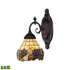 ELK lighting Mix-N-Match 1 Light LED Wall Sconce In Vintage Antique And Stained Glass