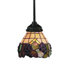 ELK lighting Mix-N-Match 1 Light Pendant In Vintage Antique And Stained Glass