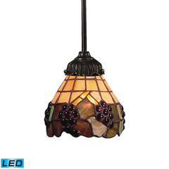ELK lighting Mix-N-Match 1 Light LED Pendant In Vintage Antique And Stained Glass