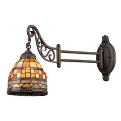 ELK lighting Mix-N-Match 1 Light Swingarm In Classic Bronze