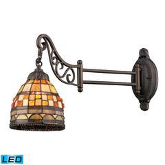 Mix-N-Match 1 Light LED Swingarm In Classic Bronze