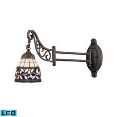 ELK lighting Mix-N-Match 1 Light LED Swingarm In Tiffany Bronze