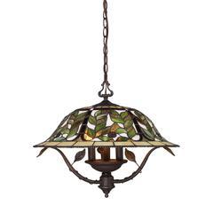 ELK lighting Latham 3 Light Chandelier In Tiffany Bronze
