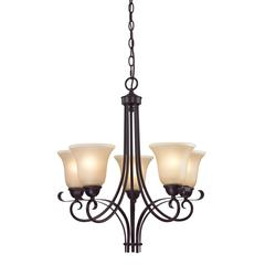 Brighton 5 Light Chandelier In Oil Rubbed Bronze