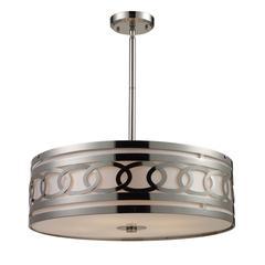 ELK lighting Zarah 5 Light Pendant In Polished Nickel