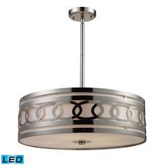 ELK lighting Zarah 5 Light LED Pendant In Polished Nickel
