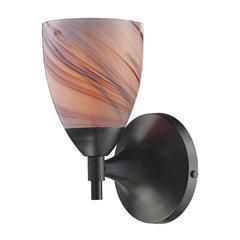 ELK lighting Celina 1 Light Sconce In Dark Rust And Creme Glass