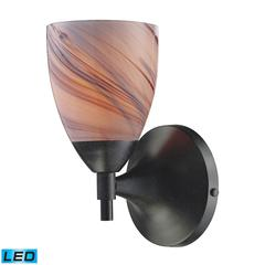 ELK lighting Celina 1 Light LED Sconce In Dark Rust And Creme Glass