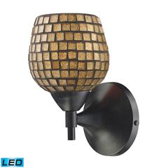 ELK lighting Celina 1 Light LED Sconce In Dark Rust And Gold Glass