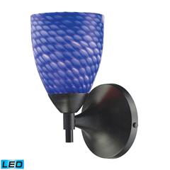 ELK lighting Celina 1 Light LED Sconce In Dark Rust And Sapphire Glass