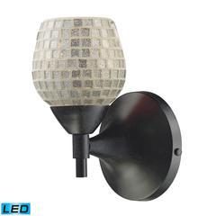 ELK lighting Celina 1 Light LED Sconce In Dark Rust And Silver Glass