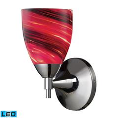 Celina 1 Light LED Sconce In Polished Chrome And Autumn Glass