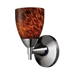 Celina 1 Light Sconce In Polished Chrome And Espresso