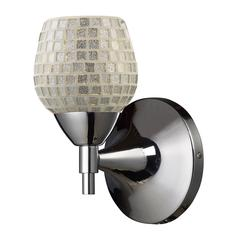 ELK lighting Celina 1 Light Sconce In Polished Chrome And Silver Glass